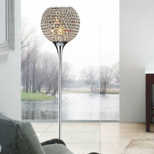 Good Image Is Loading Modern Crystal Living Room Floor Lamp Gold Silver