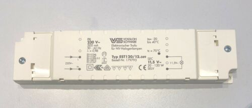 20-120 Watt Ausgang Vossloh-Schwabe Transformator FlatLine EST 120//12.389