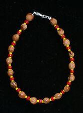 Bitsoie. Red Navajo Ghost//Cedar Beads Bracelet Juniper Berry by L