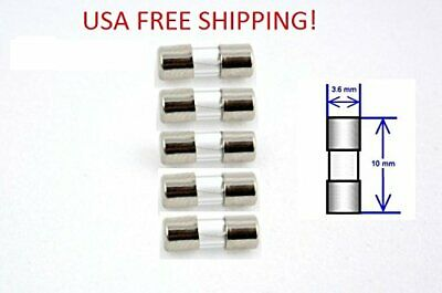 F2A 250V Fast Acting  Micro Glass Fuse 3.6 x 10mm Pack of 5-2A