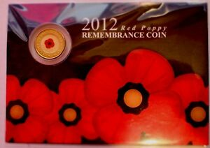 2012 RED POPPY UNC  on RSL Card Scarce collectible Collectible coin