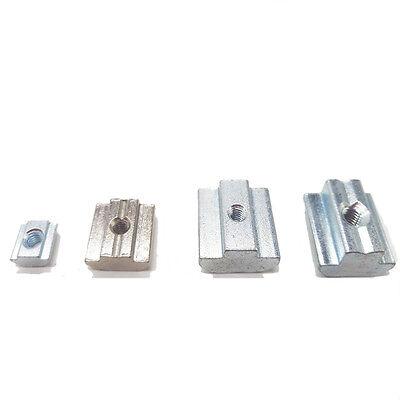 T Schiebe-Nuss Block quadratisch Zink beschichtete Platte Aluminium EU-Standard
