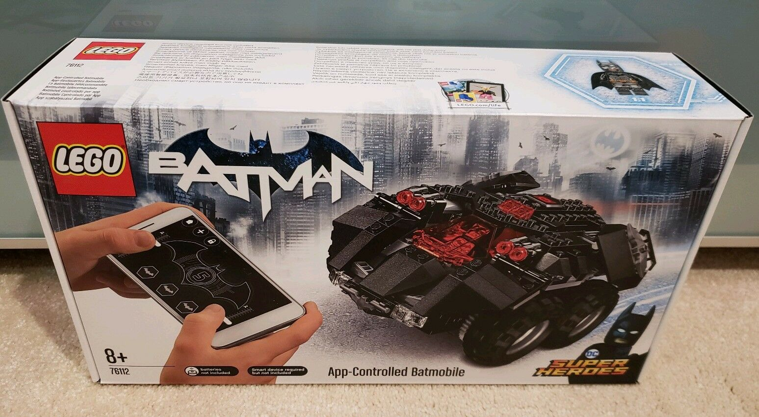 Lego DC Comics Super Heroes App-Controlled Batmobile (76112) Fast Dispatch  New