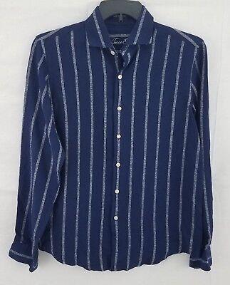 Tasso Elba Island Men's Boucle Stripe Linen Shirt 100005344 Special Buy Shirts