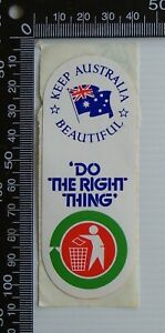 VINTAGE-DO-THE-RIGHT-THING-KEEP-AUSTRALIA-BEAUTIFUL-ADVERTISING-PROMO-STICKER