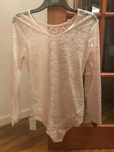 Lovely BNWH M/&S /'Louisa lace collection/' ivory lace body sizes 14 rrp £22.50
