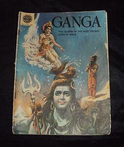 ANTIQUE C1980'S OLD AMAR CHITRA KATHA COMIC OF GANGA RARE