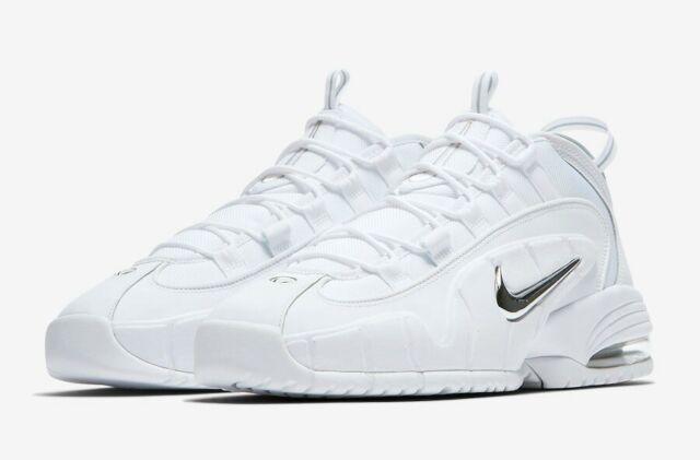 d4730af2b2 2018 Nike Air Max Penny 1 White Metallic Silver Size 11 685153-100 Jordan  Kobe