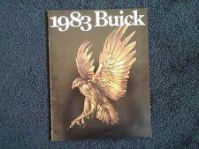 Brochure 1983 Buick, Advertising Century Electra LeSabre Regal Riviera Skylark