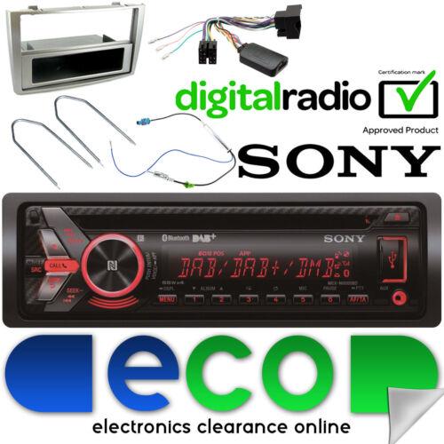 Peugeot 308 DAB SONY CD MP3 Bluetooth estéreo de coche volante Plata Facia Kit