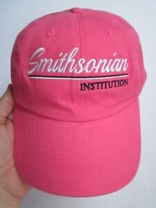 Image is loading SMITHSONIAN-INSTITUTION-WOMEN-039-S-PINK-STRAPBACK-OSFM- 3e1c5ca0b