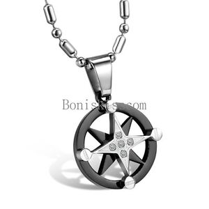 Mens womens star of david stainless steel circle pendant for Star of david necklace mens jewelry