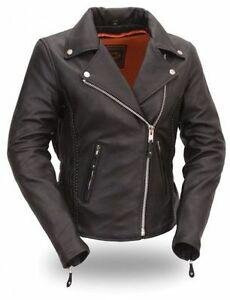 Women-Motorcycle-Motorbike-Biker-Racing-Leather-Jacket-CE-Approved-Armour