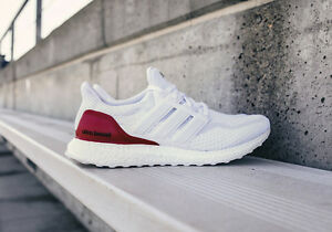 158011f9f Adidas Ultra Boost 2.0 Kansas KU PE. size 8. White Red Blue. BB0804 ...