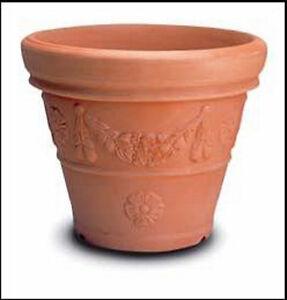 Vasi Per Giardino In Plastica.Dettagli Su Vaso Campana Decorata Cm 25 In Resina Vasi Da Giardino No Plastica