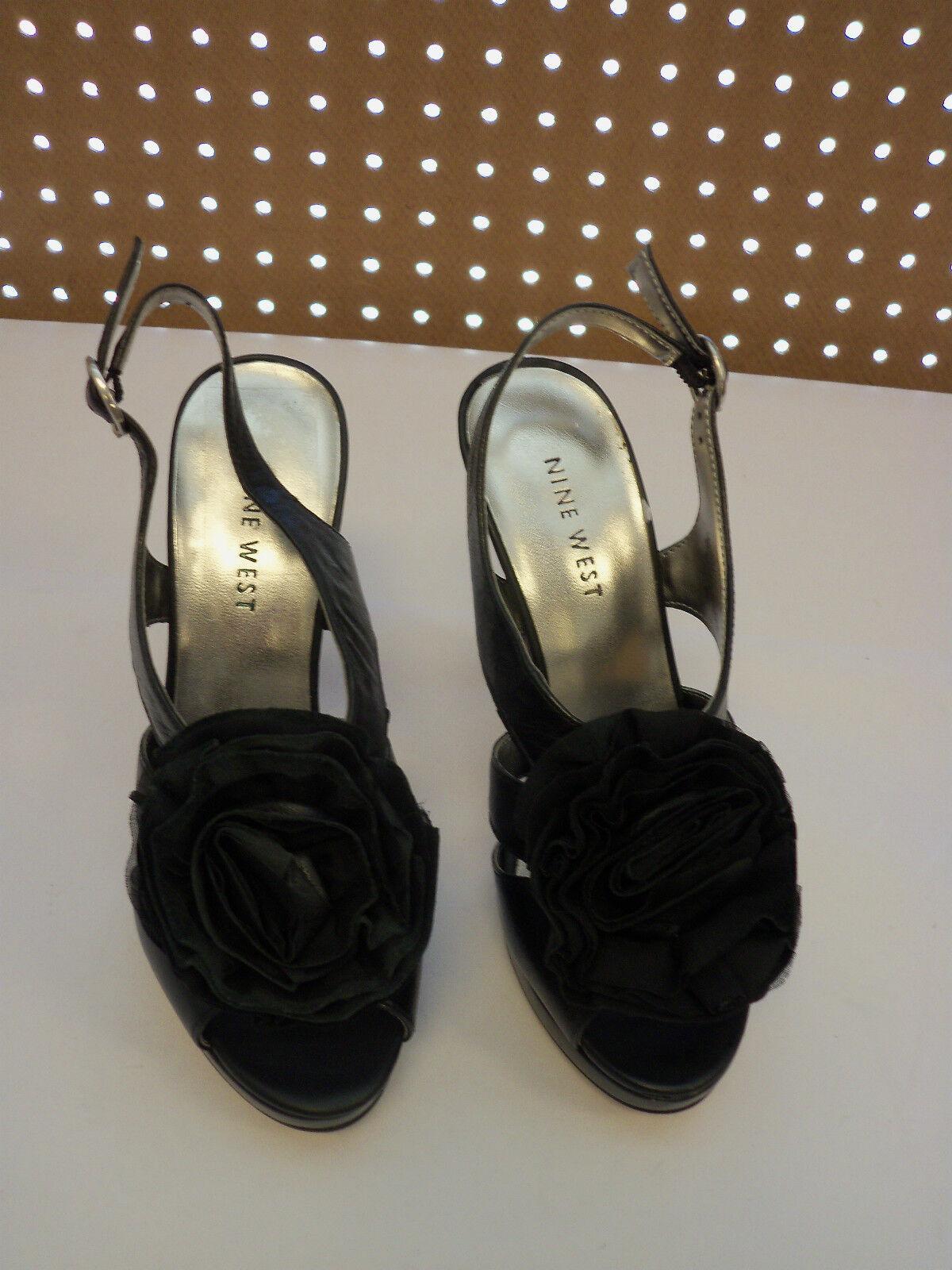 Nine West New donna Terrain nero Open Toe Heels 5  M scarpe  basso prezzo del 40%