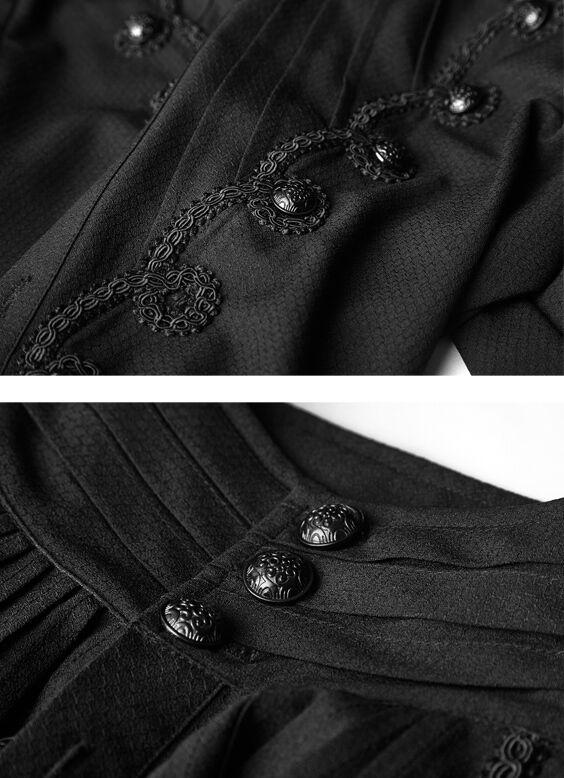 Chemise dandy gothique baroque victorien broderie bouton bouton bouton jacquard Punkrave Homme 44d93d