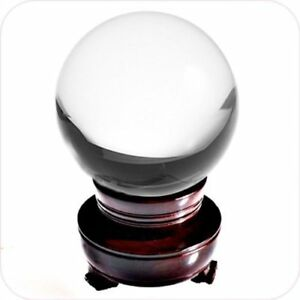 Details about Crystal Clear Crystal Ball 110mm 4 2 in  Including Wooden  Stand