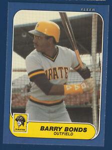 BARRY-BONDS-RC-86-FLEER-1986-ROOKIE-U-14-PIRATES-NRMINT-16254