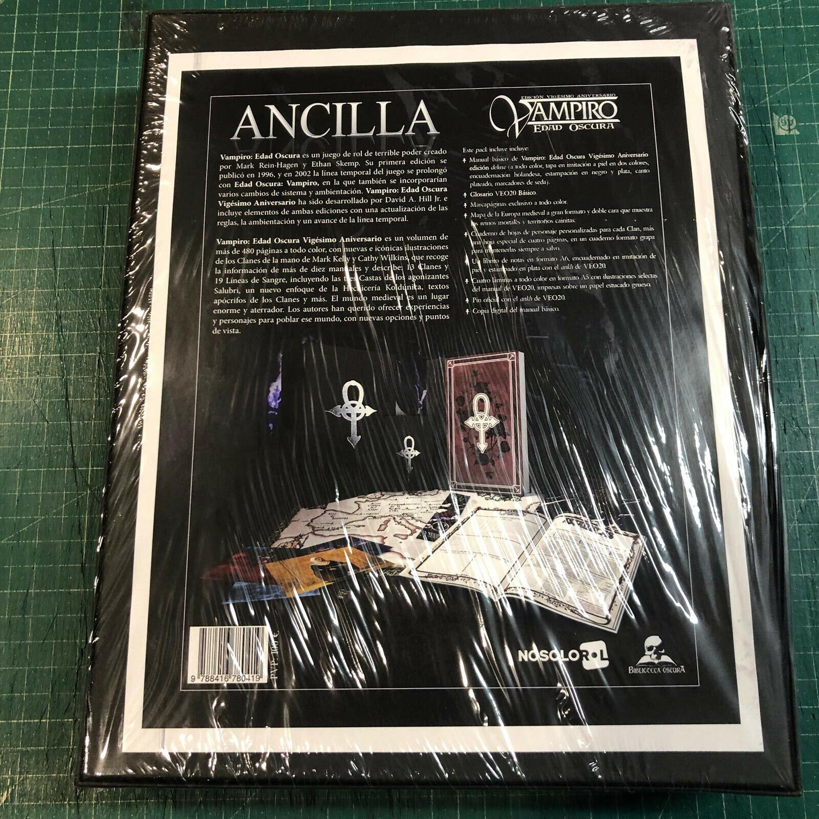 Vampiro Edad Oscura 20 Aniversario - Caja Mecenazgo Ancilla - Sellado