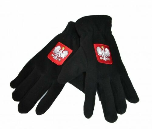Winter Thermal Polar Rekawiczki Gloves Polska Poland Mens Warm Black Eagle Flag