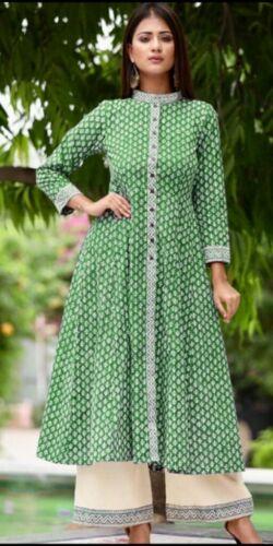 Indian kurta kurti dress With palazzo pant TopTunic Set blouse pakistani Bottom