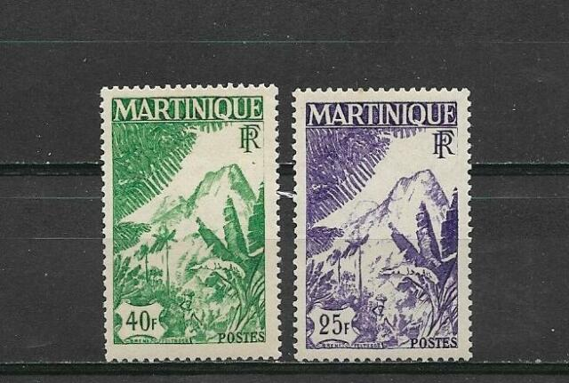Complete suite 2 Mint stamps ** FRENCH  MARTINIQUE 1947               (2616)