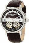 Charles Hubert 3937 Mens Brown Dial Analog Automatic Watch With Calfskin Strap