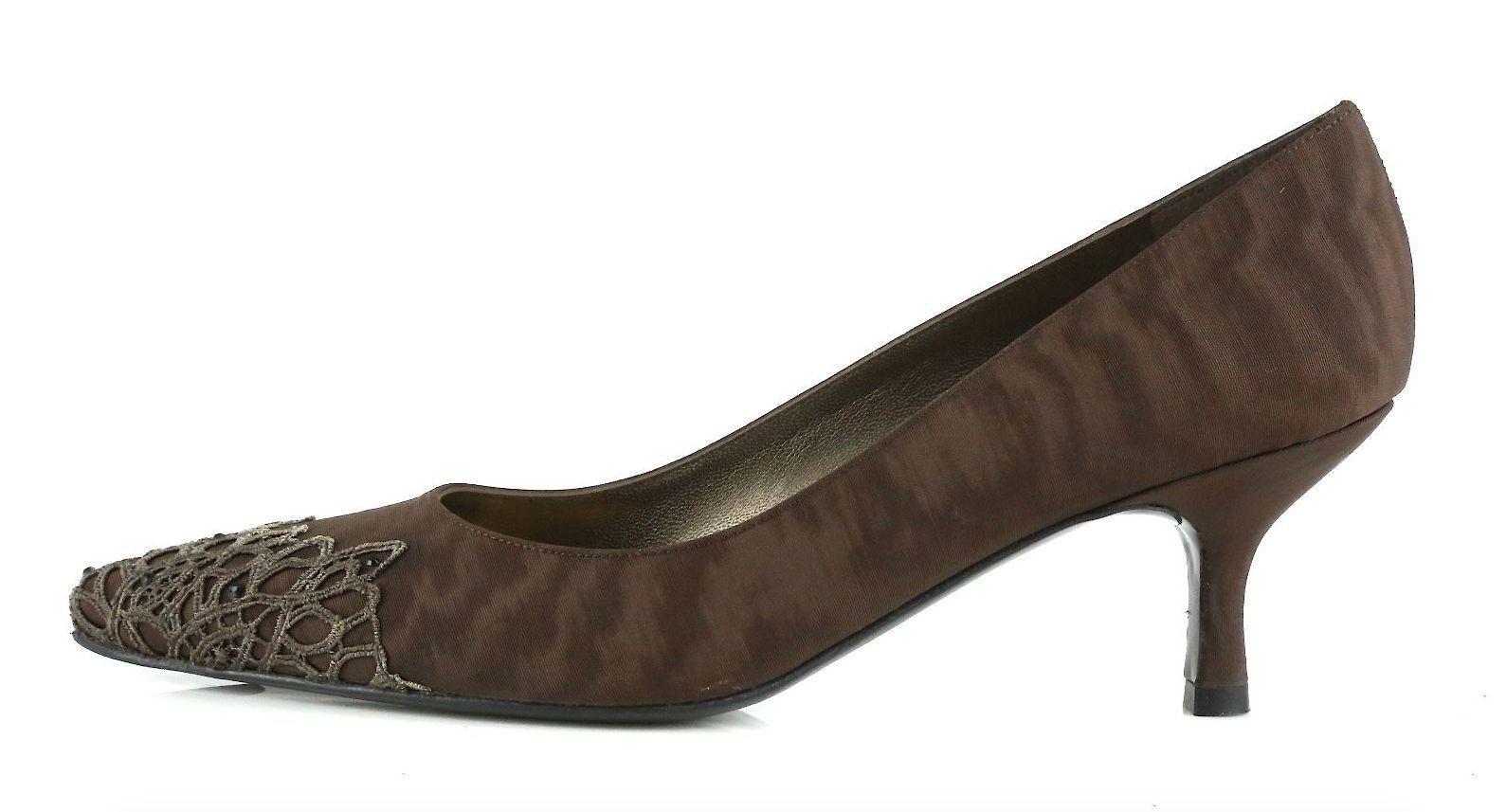 Stuart Weitzman Midnitelace Chocolate Brown Pumps 8989 Size 6 M NEW!