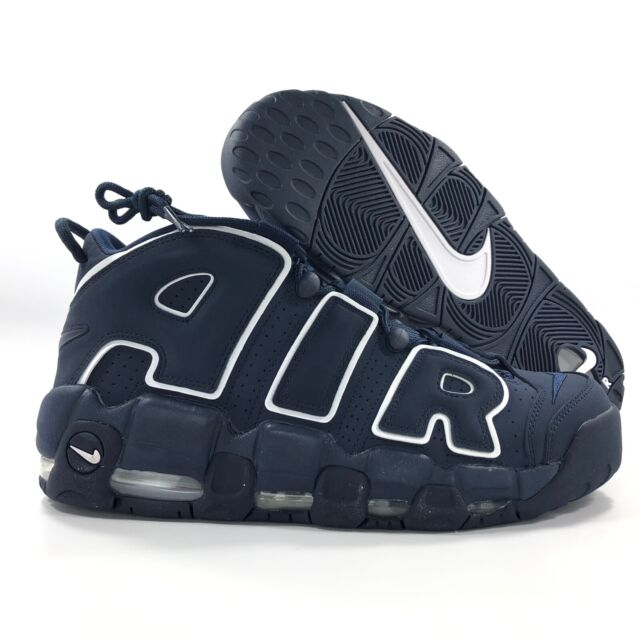 86f2ee6190bd9 Nike Air More Uptempo '96 Obsidian Navy Blue White 921948-400 Men's 11.5