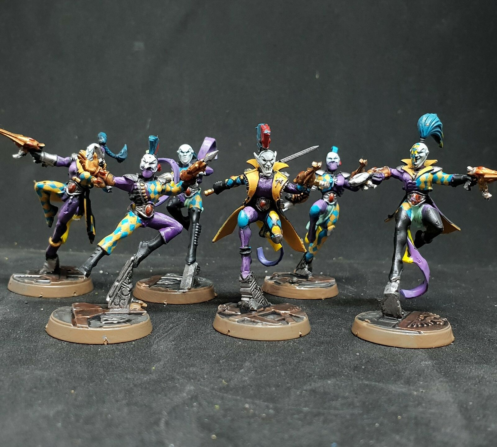 Warhammer 40k Eldar Harlequin Troupe Pro painted made to order