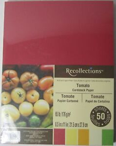 Recollections-Cardstock-Carta-8-1-5-1cm-x-27-9cm-50-Fogli-29-5kg-5-Color-Tomato
