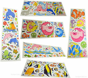 Children-039-s-Room-Bathroom-Wall-Stickers-Fish-Themed-Sticker-Under-The-Sea-Dolphin