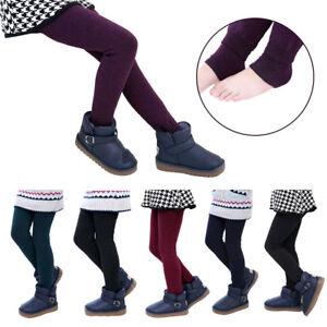 Winter-Kids-Baby-Girls-Fleece-Bottoms-Leggings-Warm-Thick-Lined-Pants-Trousers