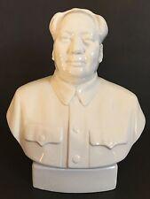 Vintage Large China White Porcelain Mao Zedong Tse-tung Head Bust Statue