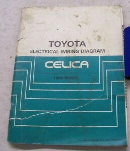 details about 1986 toyota celica electrical wiring diagrams service manual  1986 toyota celica wiring diagram #15