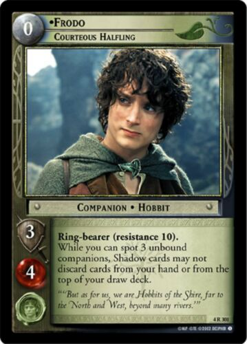 LOTR TCG Frodo Courteous Hobbit x2 4R301 The Two Towers Lord of the Rings MINT