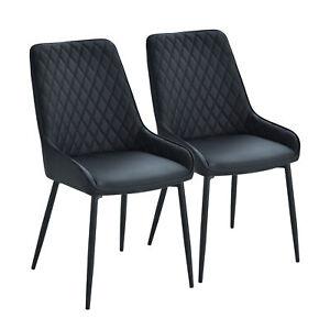 HOMCOM-Black-PU-Leather-Dining-Chair-of-Mid-Century-Modern-Style-Set-of-2