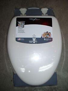 Bemis Bone Color Elongated Cushioned Padded Toilet Seat