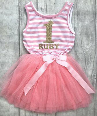 Personalised Birthday Princess Tutu Dress, Gold Small Crownnumber Name Sleevless Geeignet FüR MäNner, Frauen Und Kinder