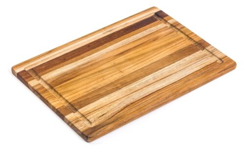 Juice Canal Rectangle... TeakHaus by Proteak Edge Grain Cutting//Serving Board