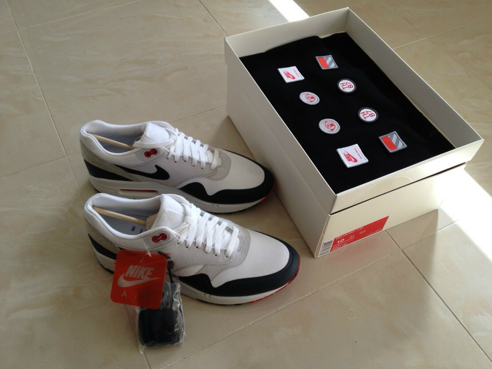NIKE AIR MAX 1 PATCH OG PARIS TRAINERS SHOES SNEAKERS SIZE NEW
