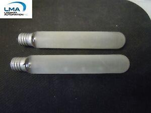 LOT-OF-2-GE-FG648-Y-TUBULAR-LAMP-LIGHT-FROST-20W-120V-5-034-T6-bulb-3806504-NEW