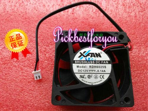1PCS XFAN RDH6025S fan DC12V 0.14A 2pin 60*60*26mm #M595 QL YH5