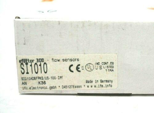 NEW EFECTOR SID10ADBFPKG//US-100-IPF FLOW MONITOR SI1010 SID10ADBFPKGUS100IPF