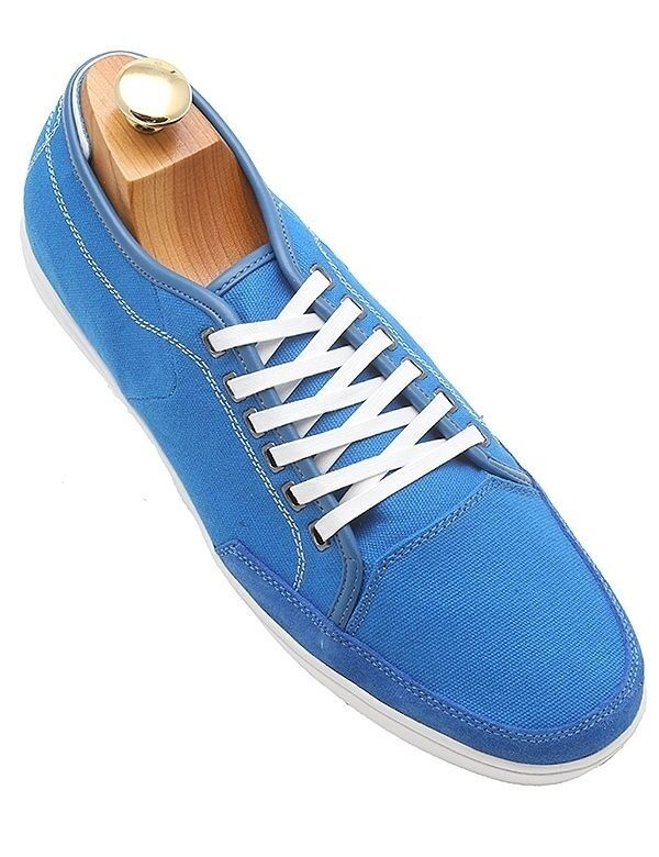 Steve Madden Uomo Canvas Turquoise Blue Trendy  Style Casual Laceup Shoes