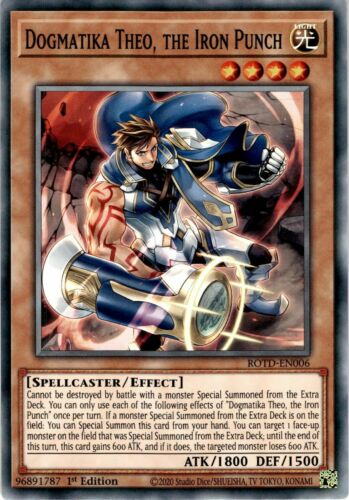 1st Edition ROTD-EN006 Common Yugioh 3x Dogmatika Theo the Iron Punch