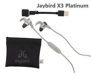 b8a80db3d1b Image is loading Jaybird-X3-Sport-Wireless-Bluetooth-Headphones-Platinum- Used-