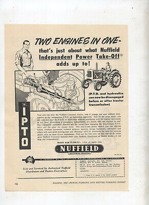 Orderly Nuffield Universal Tractor Advertisement Removed From A 1957 Farming Magazine Farming & Agriculture Other Media