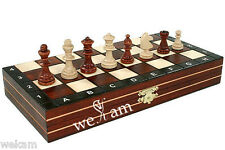 free shipping - TRAVEL MAGNETIC WOODEN  CHESS SET -WOOD FOLDING BOARD-